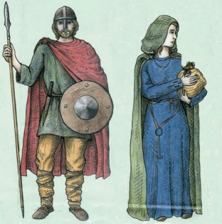 Anglo Saxon Man and Woman