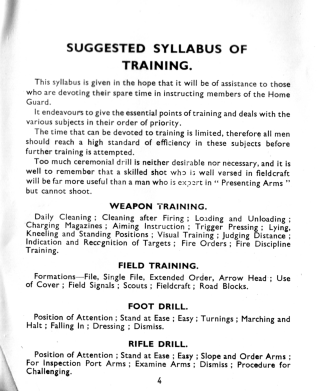 Page from Home Guard training manual