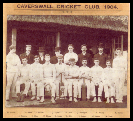 Photo of cricket team in 1904