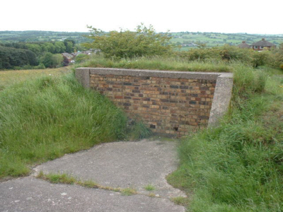Photo of remains of control bunker at Park Hall